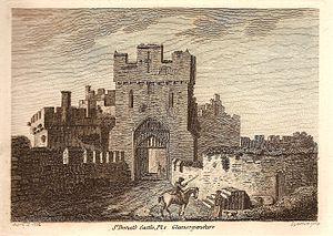 St Donat's Castle - The gatehouse of St Donat's Castle in 1774