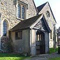 St James's Church, The Square, Shere (March 2014) (Porch).JPG