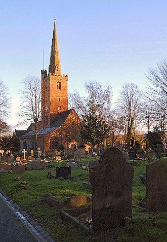 Halesowen - The Norman-era Parish Church of St. John the Baptist, Halesowen.