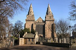St Machar's cathedral with watch house - geograph.org.uk - 174651.jpg