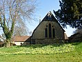 St Mark's Church, Walking Bottom, Peaslake (March 2014, from West).JPG