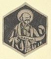 St Matthew the Evangelist, holding a banderole (possibly a modern impression) MET DP853472.jpg