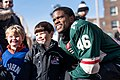 St Paul Mayor, Melvin Carter with some young fans at Red Bull Crashed Ice, St Paul MN (39768501081).jpg