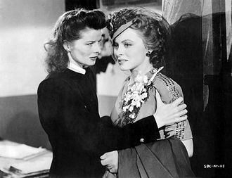 Stage Door Canteen (film) - Katharine Hepburn and Cheryl Walker in Stage Door Canteen