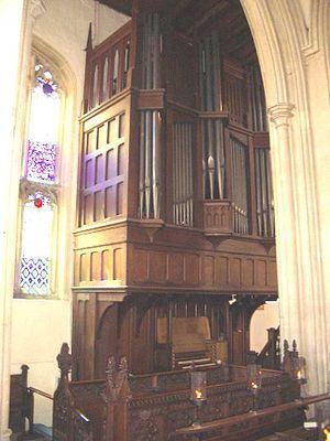 St Martin's Church, Stamford - The organ case in St Martin's