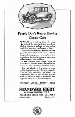 Standard Steel Car Company - 1921 advertisement