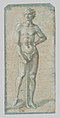 Standing Youth Holding a Club (recto); Temptation of Adam and Eve (verso) MET 38Wcat25br2.jpg