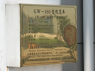 Star of Nanchang - Manufacturer's specifications plaque