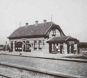Westervoort railway station - Westervoort railway station in 1920