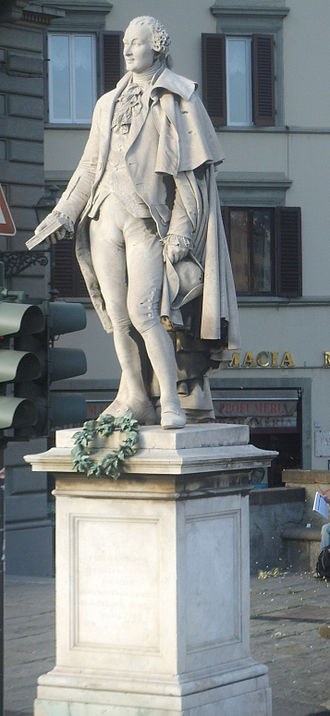 Carlo Goldoni - Monument to Goldoni in Florence (sculpted by Ulisse Cambi)