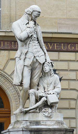 Valentin Haüy - Statue at the Institut des jeunes aveugles