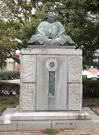 Kobayakawa Takakage - Statue of Takakage in Mihara City.