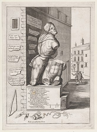 Pasquino - Pasquino in 1550 by Nicolas Béatrizet