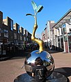 Statue that symbolises Ede with an opening oak seed. Art can be nice - panoramio.jpg