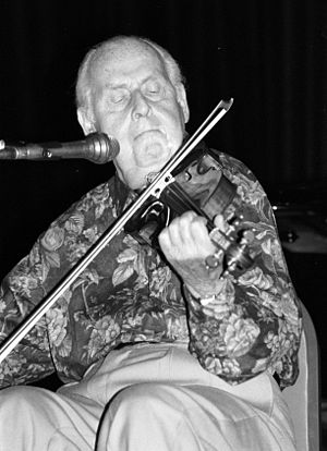 "Jazz violin -  French jazz violinist Stéphane Grappelli founded the ""Gypsy Jazz""-style Quintette du Hot Club de France with guitarist Django Reinhardt before World War II"