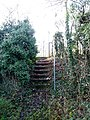 Steps leading down to footpath across the Brent Valley golf course - geograph.org.uk - 1066345.jpg