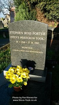 Steve Peregrin Took's Grave in February, 2014.jpg
