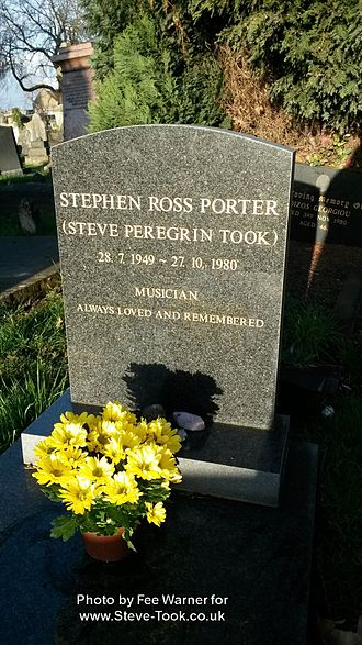Steve Peregrin Took - Steve Peregrin Took's Grave at Kensal Green Cemetery, London, in February 2014