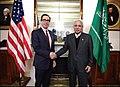 Steven Mnuchin and Majid bin Abdullah at US Treasury.jpg
