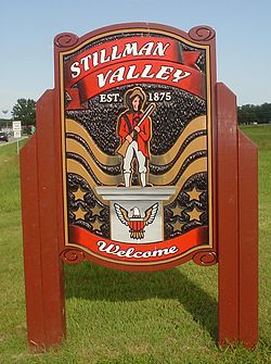 Sign leading into Stillman Valley