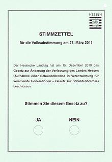 Stimmzettel Blanko