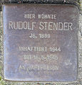 Stolperstein Gertigstraße 56 (Rudolf Stender) in Hamburg-Winterhude.jpg