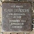 Stolperstein Krummhübler Str 1 (Rumbg) Klara Davidsohn.jpg