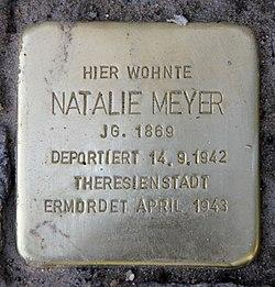 Photo of Natalie Meyer brass plaque