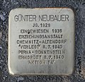 Stolperstein für Günter Neubauer, Flemmingstraße 8, Chemnitz (1).JPG