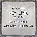 Stolperstein für Livia Ney (Magyarmecske).jpg