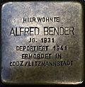 Stumbling block for Alfred Bender (Lungengasse 43)