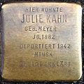 Stolpersteine K-Lindenthal Gleueler 167 Julie Kahn.jpg