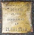 Stolpersteine für 2 Rommni Achterstraße 50 Köln Jg1903.jpg