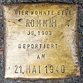 Stumbling block for a Rommni (Achterstraße 50)