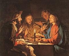Stom, Matthias - Le repas d'Emmaüs