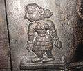Stone carved relief on a pillar at Boni Temple 02.jpg