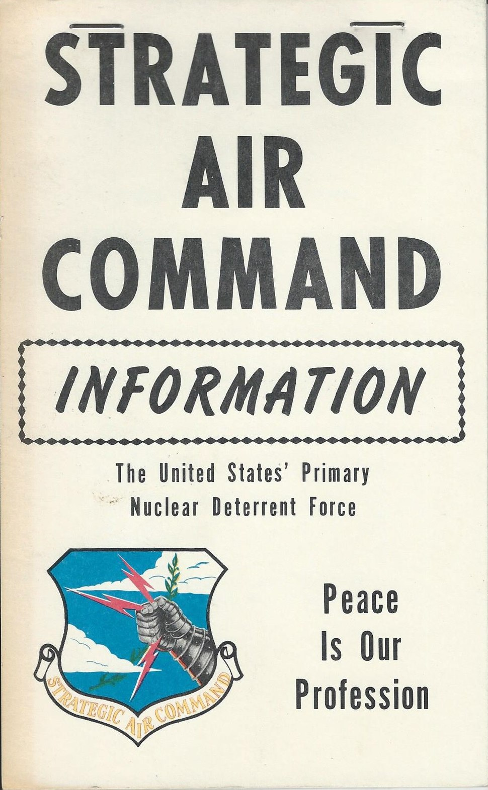 Strategic Air Command Information cover 1975