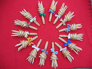 Cambridgeshire handbells in wheat straw