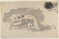 Studies of Lovers Embracing (recto) and A Suppliant Figure (verso) MET DP830341.jpg
