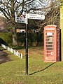 Sturminster Marshall, phone box and signpost - geograph.org.uk - 1072480.jpg