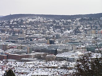 Stuttgart - City center, winter