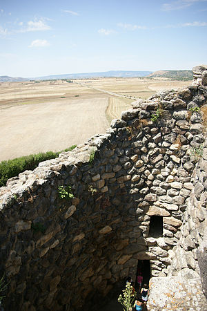 Su Nuraxi (Barumini) - The Nuraghe and its countryside in summer
