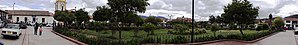 Suesca - Panoramic view of Suesca's central square