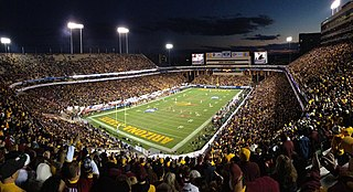 an outdoor football stadium in Tempe, Arizona