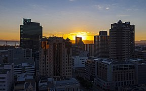 Sun rising over downtown Cape Town on winter morning.jpg