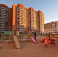 Sunset on the playground. April 2014. - Закат на детской площадке. Апрель 2014. - panoramio.jpg