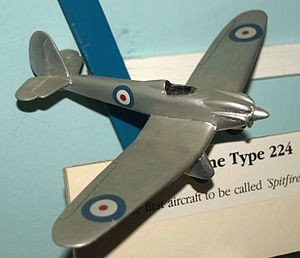 Supermarine Type 224 - Model of the Type 224 on display at the Solent Sky museum