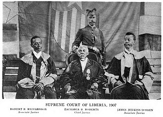 Supreme Court of Liberia - Chief Justice Zacharia B. Roberts along with his associates