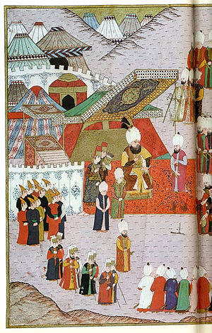 Mehmed III - Mehmed III accepting the surrender of Eger, 1596