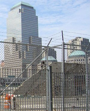 Cortlandt Street (IRT Broadway–Seventh Avenue Line) - Image: Survivors Staircase 2006 zoom vc